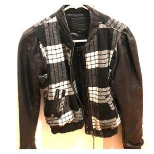 NWOT [BLANK NYC] Leather Bomber Jacket